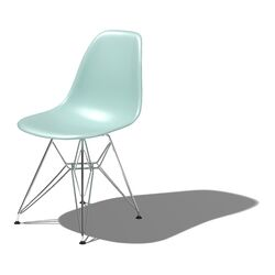 Eames DSR - Molded Plastic Side Chair with Wire Base