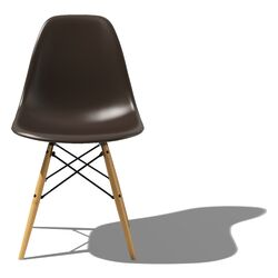 Eames DSW - Molded Plastic Side Chair with Dowel-Leg Base