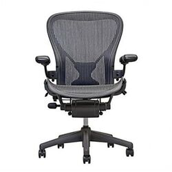 Aeron Chair by Herman Miller - Official Retailer - Highly Adjustable Graphite Frame - with ...