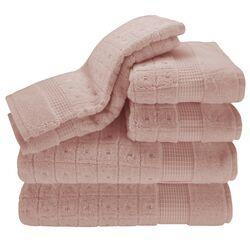 Contempo 6 Piece Towel Set in Petal