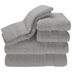 Contempo 6 Piece Towel Set in Steel