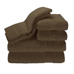 Contempo 6 Piece Towel Set in Caf�