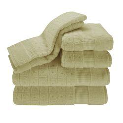 Contempo 6 Piece Towel Set in Celery