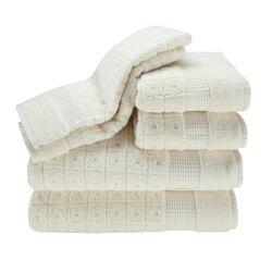 Contempo 6 Piece Towel Set in Ecru