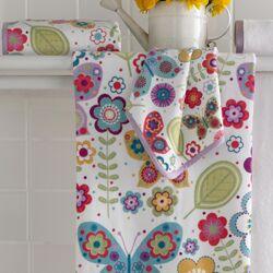 Bambini Butterflies Printed Bath Towel (Set of 6)