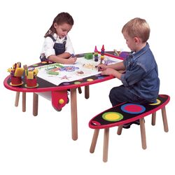 My Room Kids' 3 Piece Table and Bench Set
