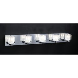 Glacier Five Light Vanity Light in Polished Chrome
