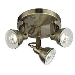 Home Essence Ottawa 3 Light Spotlight in Antique Brass