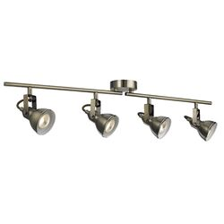 Home Essence Ottawa 4 Light Spotlight in Antique Brass