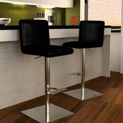 Georgio Adjustable Swivel Bar Stool with Cushion