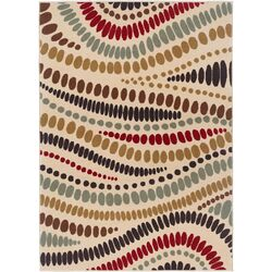 Laguna Beige Abstract Area Rug