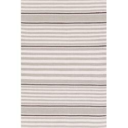 Indoor/Outdoor Beckham Platinum Blue/White Striped Outdoor Area Rug