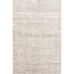 Cut Stripe Ivory Rug