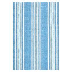 Woven Blue Sail Stripe Area Rug