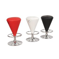 Hazelwood Home Two Adjustable Faux Leather Bar Stools