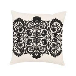 Screen Print Folk Flower Pillow