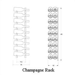 Magnum Series 18 Bottle Wall Mounted Wine Rack