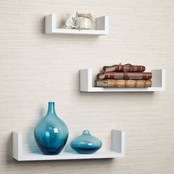 Floating U Shelf (Set of 3)