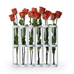 Tall Six Tube Hinged Vase
