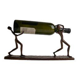 Two Men Carrying a Bottle Wine Holder