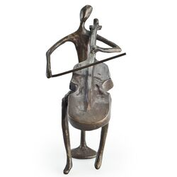 Cello Player Sculpture