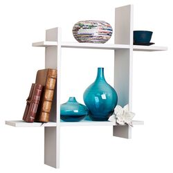 Asymmetric Floating Wall Shelf