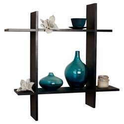 Asymmetric Floating Wall Shelf