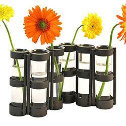 Large 6 Tube Hinged Vase