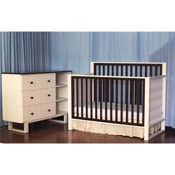 Moderno Two Piece Convertible Crib Set