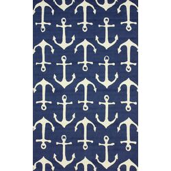 Air Libre Navy Ahoy Indoor/Outdoor Rug