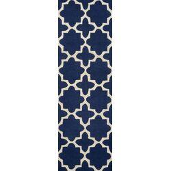Tiffany Hand Tufted Navy Area Rug