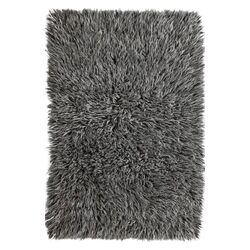 Flokati Greek Luxury Plush Salt N Pepper Area Rug