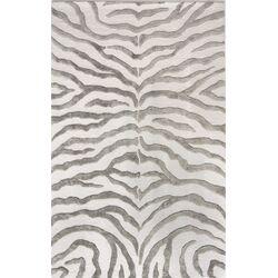 Earth Soft Zebra Grey Area Rug
