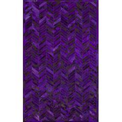 Hudson Purple Chevron Area Rug
