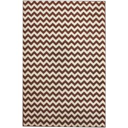 Allure Brown/Ivory Chevron Area Rug