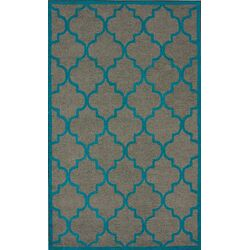 Fancy Madeline Grey/Blue Area Rug