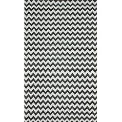 Brilliance Grey/White Chevon Area Rug