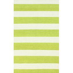 Serendipity Green Alina Stripes Area Rug