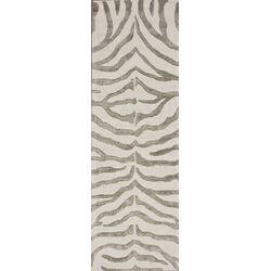 Madagascar Grey Plush Zebra Rug