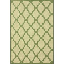 Villa Green Trellis Indoor/Outdoor Area Rug