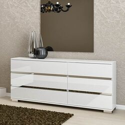 Icon 6 Drawer Double Dresser