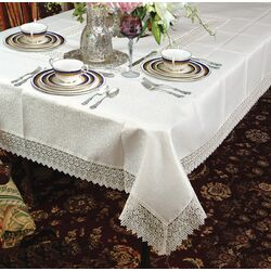 Sin In Linen Zebra Cotton Tablecloth | Wayfair