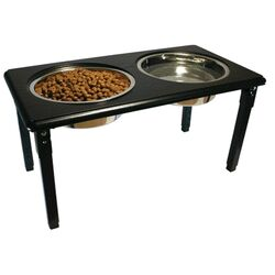 Posture Pro Adjustable Double Pet Diner in Black