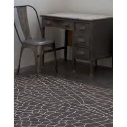 Hand Knotted Dragonfly Brown Abstract Area Rug