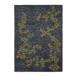 Hand Tufted Materia Grey Abstract Area Rug