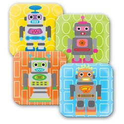 Robot Kids Plates
