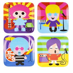 Rock Star Kids Plates