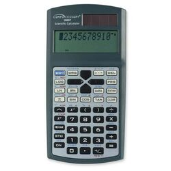 Dual Power Scientific Calculator, Charcoal gray