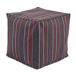 Multi Stripe KE Zippered Beads Footstool