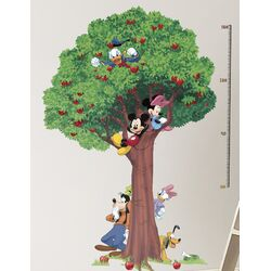 Mickey and Friends Peel and Stick Metric Growth Chart Wall Decals